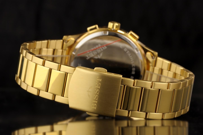 282fdee8749cf6 Zegarek Męski Bisset Slim top Złoty BS25C50M
